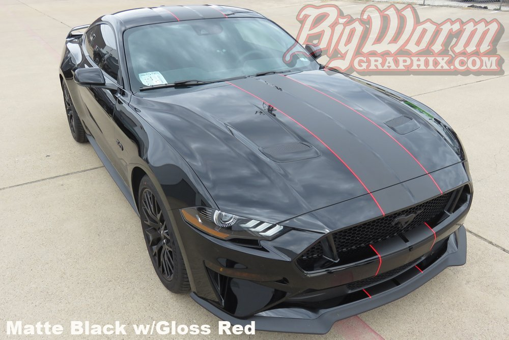2018 2019 Mustang Narrow Twin Full Length Stripes Kit