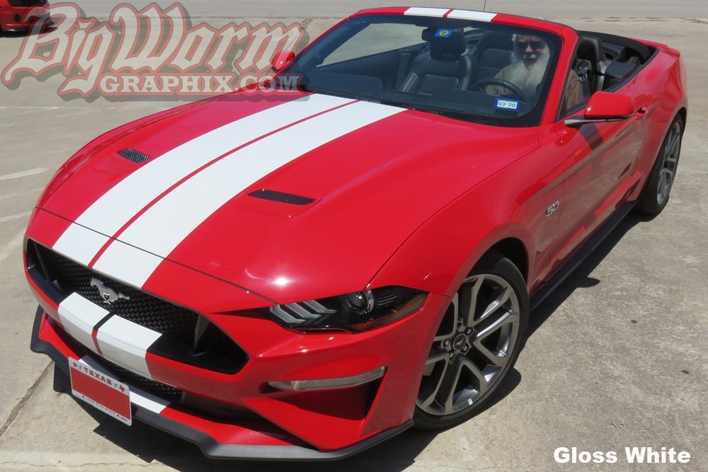 2018 Mustang Colors >> 2018-2019 Mustang Narrow Twin Full Length Stripes Kit ...