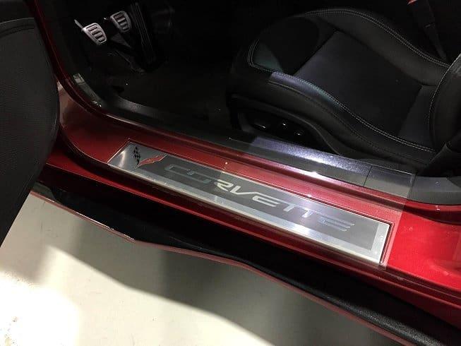 C7 Corvette Stingray Clear Door Sill Protectors