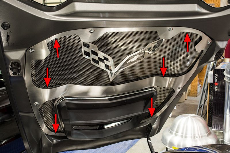 C7 Hood Trim With Center Brace