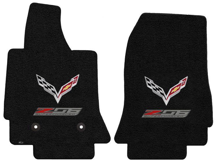 C7 Corvette Z06 Lloyd Front Embroidered Floor Mats Southerncarparts