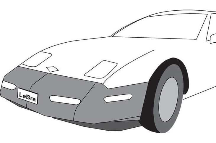 LeBra Front End Cover Chevrolet Corvette Vinyl Black