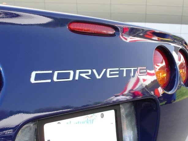 C5 Corvette Rear Bumper Domed Lettering Letters Package - SouthernCarParts.com