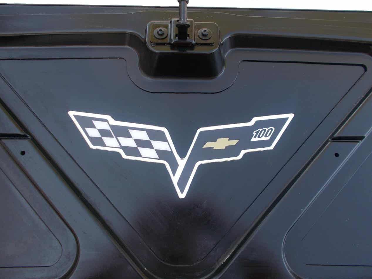 C6 Corvette Convertible Inside Trunk Lid Decals