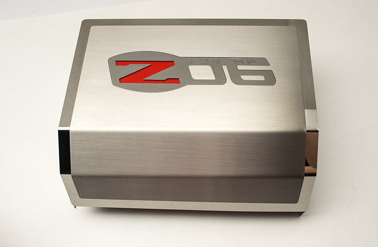 2006 2013 Z06 Corvette Fuse Box Cover Brushed Polished