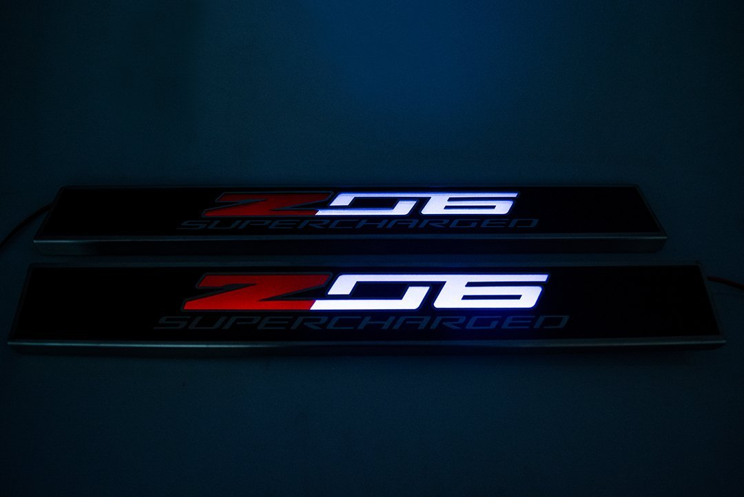C7 Corvette Illuminated Z06 Door Sill Plates