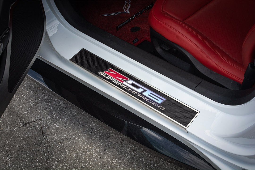C7 Corvette Illuminated Z06 Door Sill Plates & C7 Corvette Z06 LED Door Sill Plates - SouthernCarParts.com