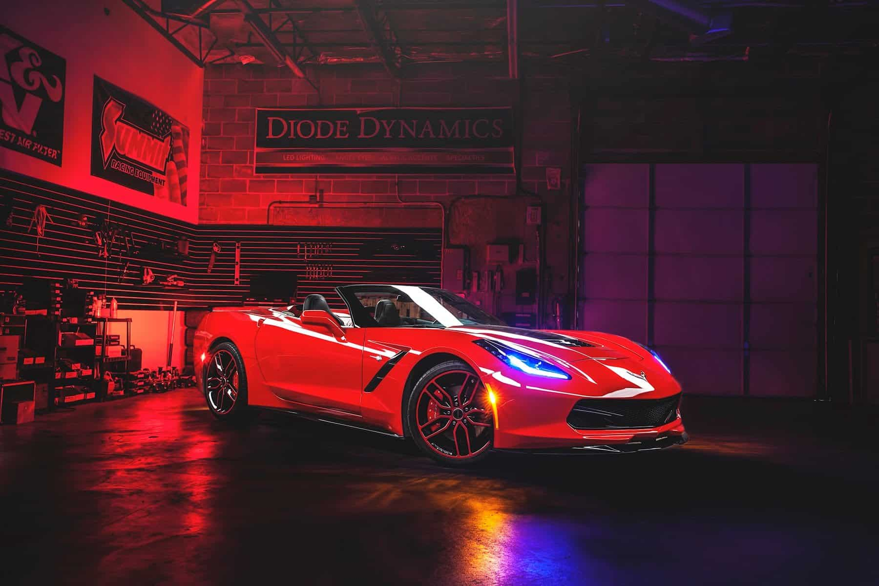 C7 Corvette Oracle Headlights Color Shift