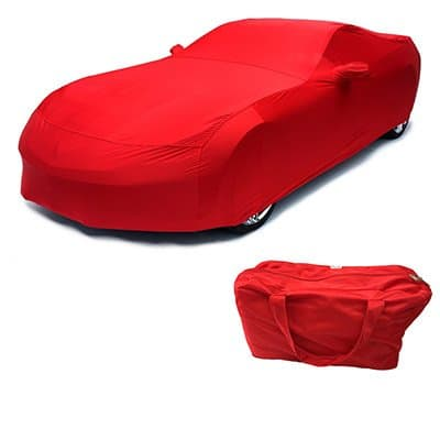 C7 Corvette Indoor Car Cover Torch Red Color Matched