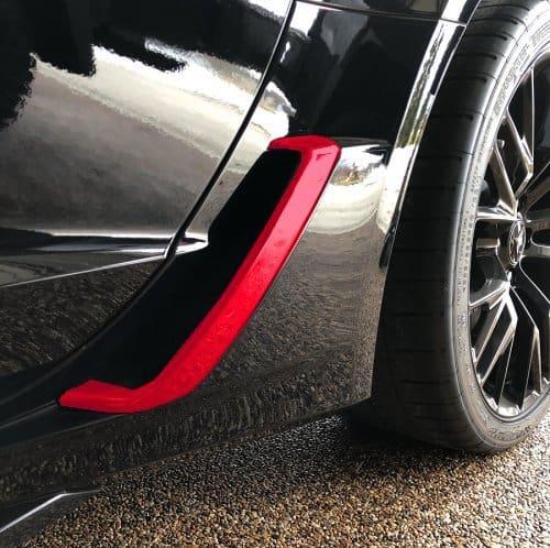 C Corvette Z Painted Quarter Panel Brake Duct Scoop Covers