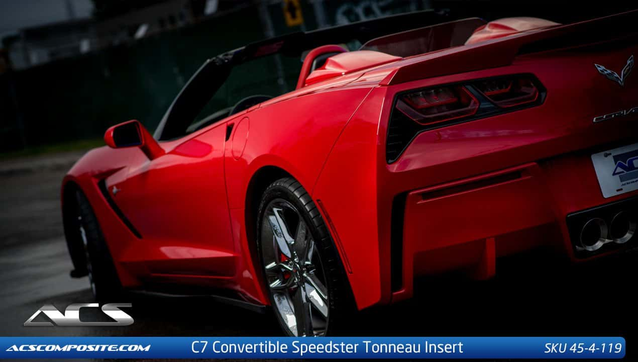 ... C7 CORVETTE STINGRAY SPEEDSTER TONNEAU INSERT W/ REAR GLASS ...