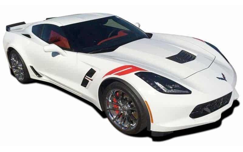 2014-2019 C7 Corvette Racing Hash Marks Fender Stripe