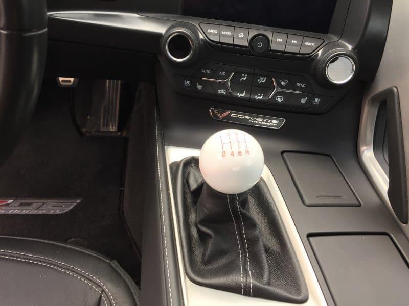 C7 Corvette GS White Shift Knob With Logo