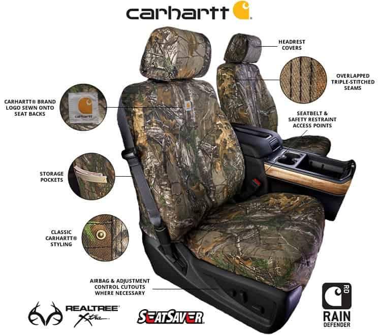 Carhartt Truck Seat Covers >> 2017-2018 Dodge Ram Covercraft Carhartt RealTree Camo Seat ...