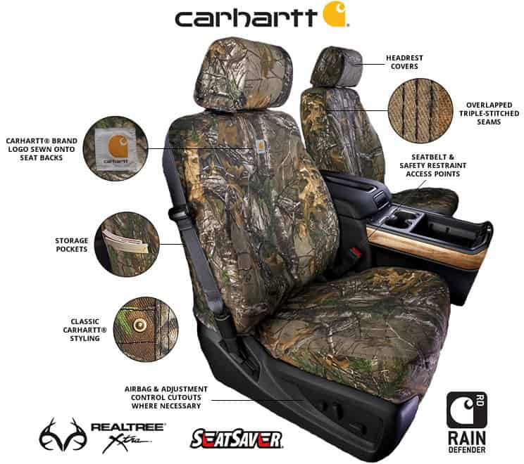 Carhartt Truck Seat Covers >> 2016-2017 Toyota Tundra Covercraft Carhartt RealTree Camo Seat Covers - SouthernCarParts.com