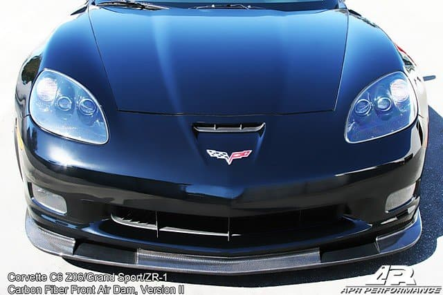 Fa 208426 C6 Corvette Z06 Apr Version Ii Front Splitter Corvette Zr1 Carbon Fiber Front Splitter