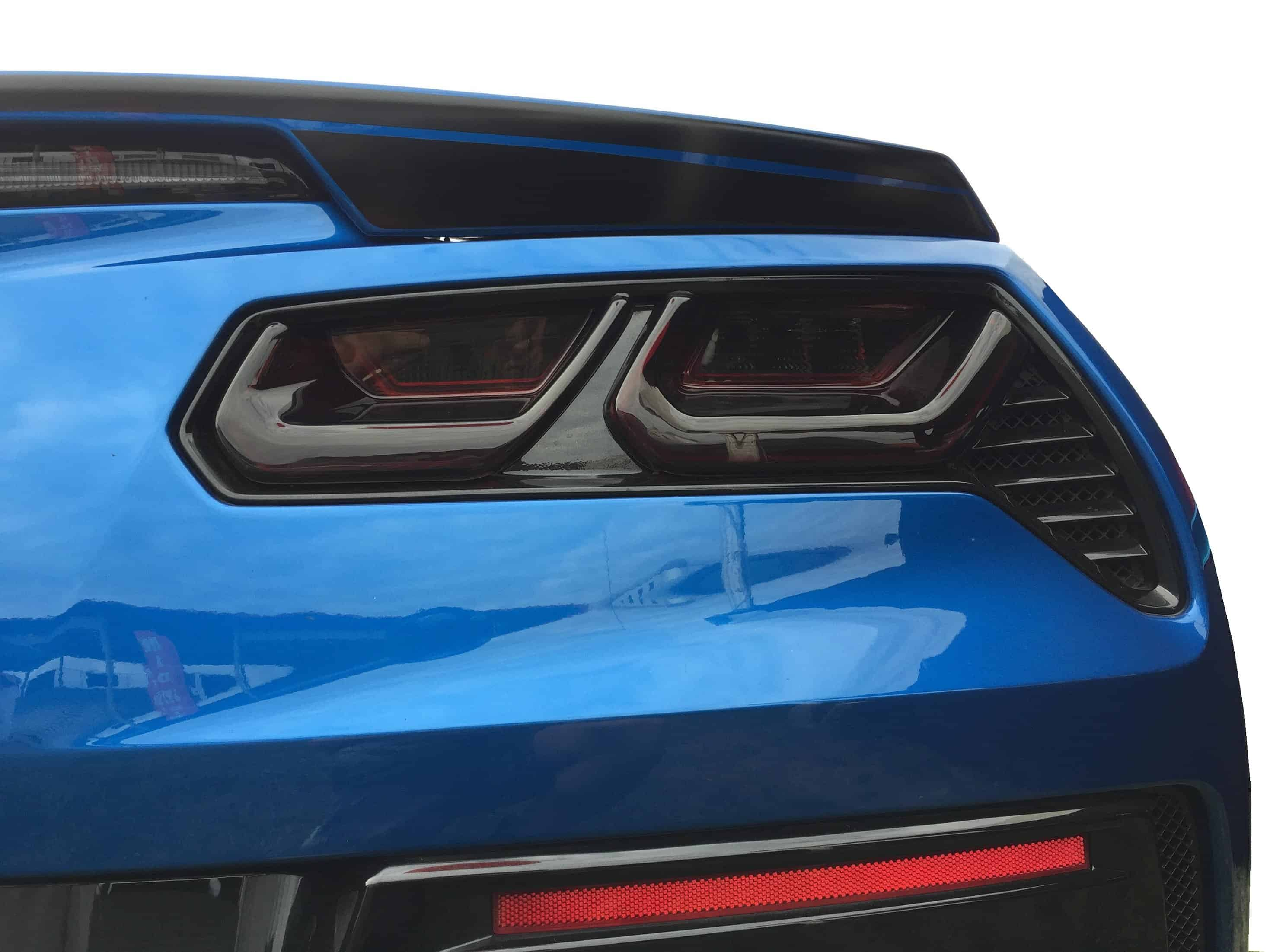 C7 Corvette Molded Acrylic Taillight Covers Smoked ...