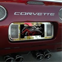 C5 Corvette Perforated Rear License Plate Frame Tag