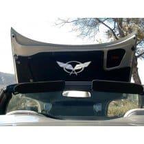 C5 Corvette Hood Pad Panel Badge Crossed Flags Emblem
