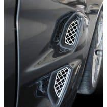 C6 2009-2013 Corvette ZR1 Front Fender Laser Mesh Grilles