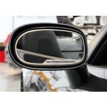 C6 Corvette Side View Mirror Trim Rings w/SuperCharged Logo