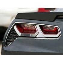 C7 Corvette Stainless Steel Tail light Bezels Trim Kit