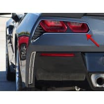 C7 2014-2018 Corvette 2pc Brushed Taillight Trim Rings