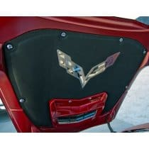 2014-2019 C7 Corvette Hood Liner Crossed Flags Emblem Overlay