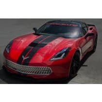 C7 Corvette Polished Front Grille Diamond Pattern with Brushed Trim