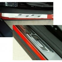 2010-2013 Camaro Door Sill Plates Pair w/SS Carbon Overlay