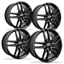 C6 Corvette Z06 Black Spyder Wheel Set