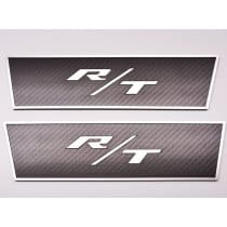 2008-2014 Dodge Challenger R/T Door Badges in Carbon Fiber