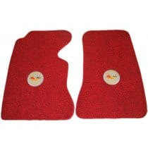 1958 C1 Corvette Floor Mats with Embroidered Logo