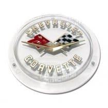 C1 1958-1962 Corvette Gold Front and Rear Emblem