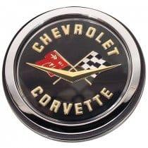 1962 C1 Corvette Gold Rear Emblem Assembly