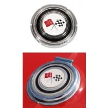 C2 1965 Corvette Gas Lid Emblem