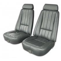 1968-1978 C3 Corvette Leather Reproduction Original Style Seat Covers