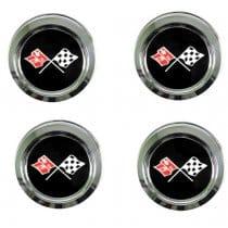 C3 1976-1979 Corvette Wheels Reproduction Center Caps Package
