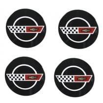C4 1984-1985 Corvette Wheels Reproduction Center Caps Package