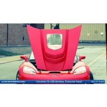 C6 Corvette L88 Hood w/ polycarbonate Center Window