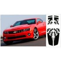 2010-2013 Camaro Dual Rally Over Car Flag Stripe Kit Coupe