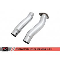 2016-2018 Camaro SS and ZL1 AWE Secondary Cat-Delete Extension Pipes 3010-11096