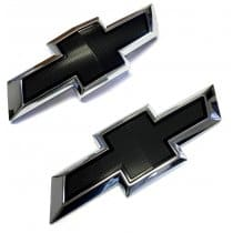 2016-2018 Camaro Black Front and Rear Bowties Emblems Package