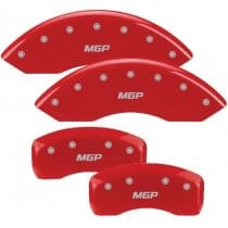 BMW European Models Red Caliper Covers with Silver Paint Fill