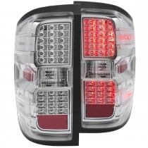 2014-2015 Chevrolet Silverado 1500-3500  L.E.D. Tail Lights Chrome