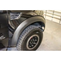 2010-2014 Ford Raptor Carbon Fiber Vinyl Fender Flare Wrap Kit