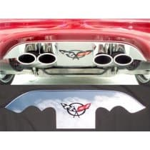 C5 Corvette Polished Exhaust Port Filler Panel