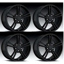 C6 Corvette 2008 Style Black Wheels Set