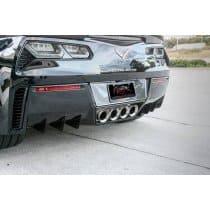 C7 Corvette  Rear Diffusers 6PC