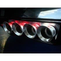 C7 Corvette Exhaust Filler Panel w/RED LED